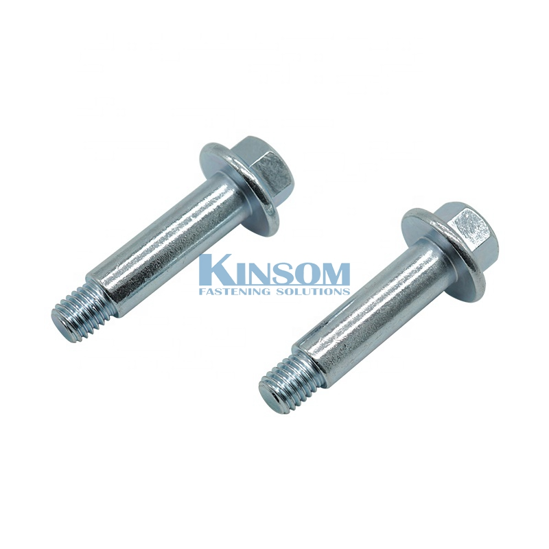 Hex flange bolt half thread bolts galvanized steel NSS 240hours Zinc clear trivalent passivate coating