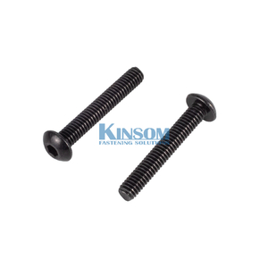 Stainless steel 316 hex pan head machine screw black zinc